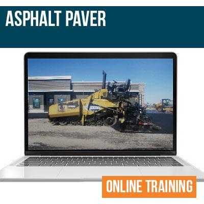 Asphalt Paver Online Training