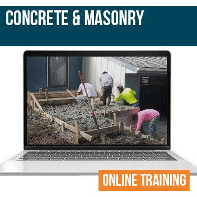 Concrete and Masonry Online Training