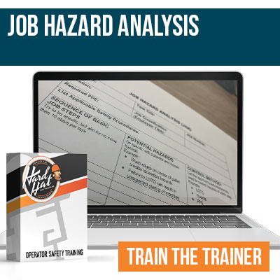Job Hazard Analysis Train the Trainer