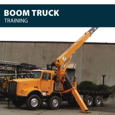 Boom Truck training certification