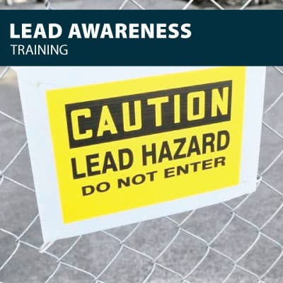lead awareness safety training certification