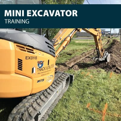 mini excavator training certification